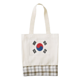 South Korean Flag Zazzle HEART Tote Bag
