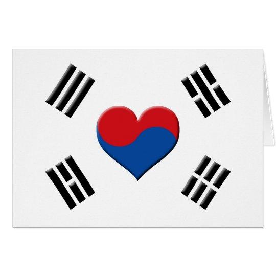 South Korean Heart Card