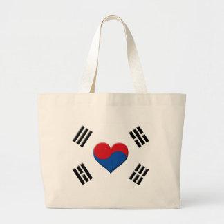 South Korean Heart Large Tote Bag
