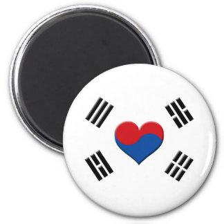 South Korean Heart Fridge Magnets