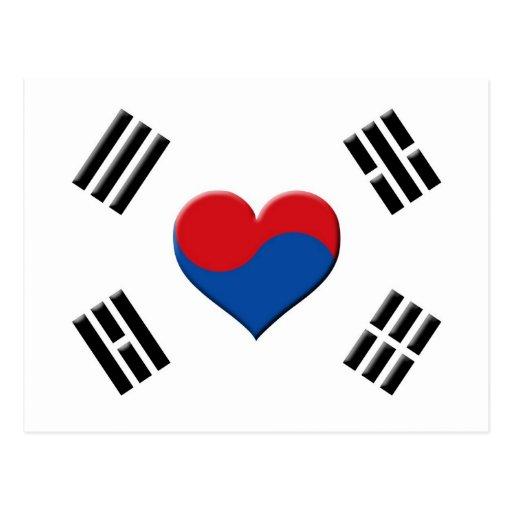 South Korean Heart Post Cards