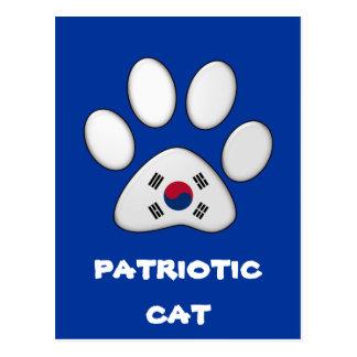 South Korean patriotic cat Postcard