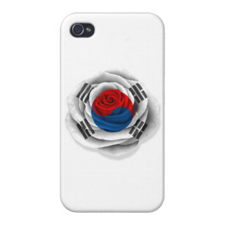 South Korean Rose Flag on White iPhone 4/4S Cover