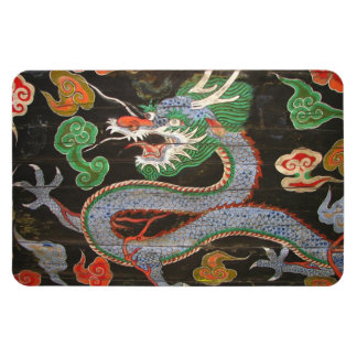 South Korean Seoul Namdaemun Asian Dragon Rectangular Photo Magnet