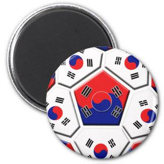 South Korean Soccer Ball flag of Korea Gifts Magnet