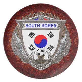 South Korean Soccer Melamine Plate