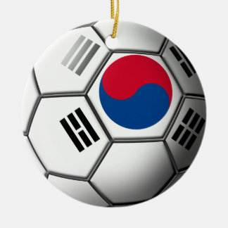 South Korean Soccer Ornament