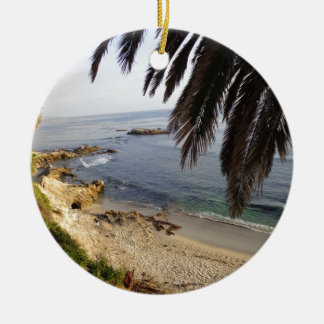 south laguna beach ceramic ornament
