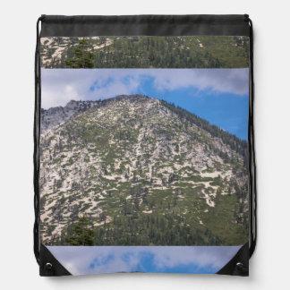 South Lake Tahoe Cascade Mountain Drawstring Backpack