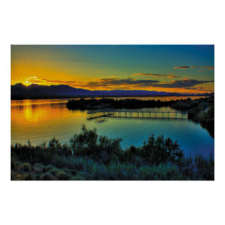 South Mesquite Bay at Sunset Poster