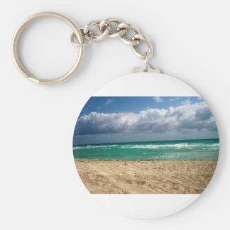 South Miami Beach 2 Basic Round Button Keychain