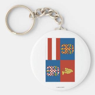 South Moravia Flag Key Chain