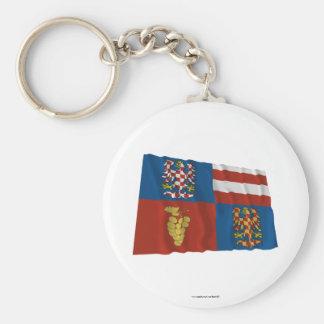 South Moravia Waving Flag Key Chains