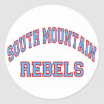 South Mountain Rebels Round Stickers