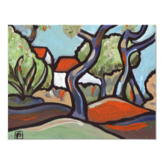 """SOUTH OF FRANCE 4.25"""" X 5.5"""" INVITATION CARD"""