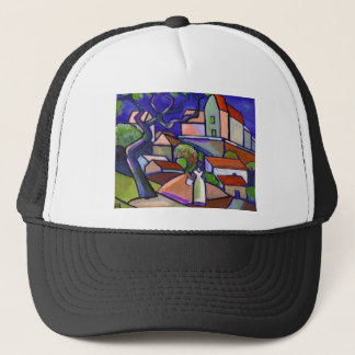 SOUTH OF FRANCE PRINT TRUCKER HAT