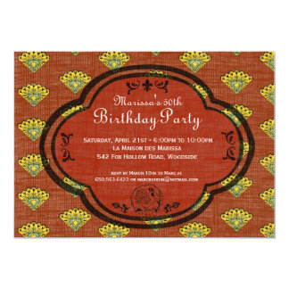 "South of France Provencal Birthday Party Invite 5"" X 7"" Invitation Card"