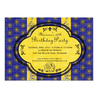 """South of France Provencal Birthday Party Invite 5"""" X 7"""" Invitation Card"""
