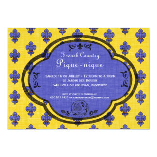 "South of France Provencal Party Invitation 5"" X 7"" Invitation Card"
