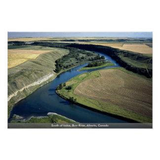 South of Indus, Bow River, Alberta, Canada Poster
