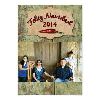 South of the Border Three Photo Christmas Card