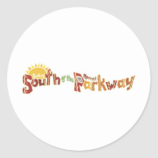 South of the Merritt Parkway Round Stickers