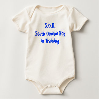 South Omaha Boy in Training Baby Bodysuit
