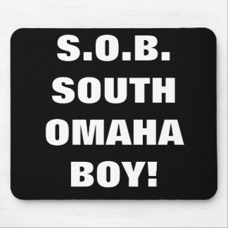 SOUTH OMAHA BOY MOUSE PADS