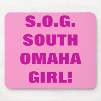 SOUTH OMAHA GIRL MOUSEPAD