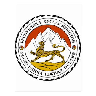 South Ossetia Coat of Arms Postcard
