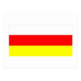 South Ossetia Flag Postcard