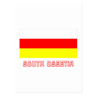South Ossetia Flag with Name Postcard