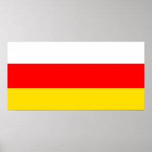 South Ossetia National World Flag Poster