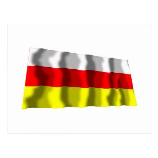 South Ossetia Waving Flag Postcard
