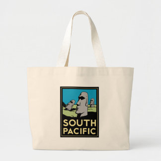 South Pacific Art Deco Travel Poster Canvas Bags