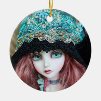 South Pacific Blue Eyes Ceramic Ornament