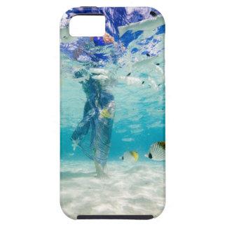 South Pacific, Bora Bora, el caminar turístico iPhone 5 Protectores