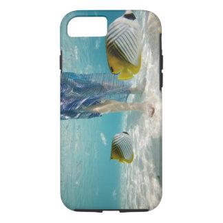 South Pacific, Bora Bora, female tourist walking 2 iPhone 8/7 Case