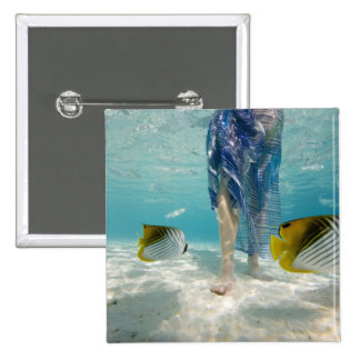 South Pacific, Bora Bora, turista femenino 2 que c Pin Cuadrado
