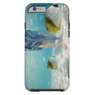 South Pacific, Bora Bora, turista femenino 2 que Funda De iPhone 6 Tough