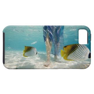 South Pacific, Bora Bora, turista femenino 2 que iPhone 5 Case-Mate Protectores