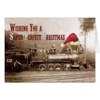 South Pacific Coast Locomotive Holiday Card