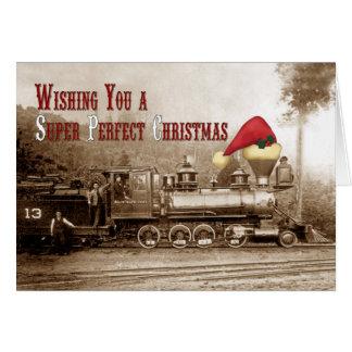 South Pacific Coast Locomotive Holiday Card