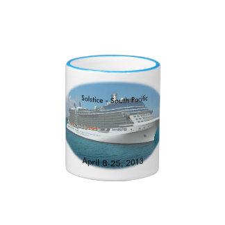 South Pacific Cruise Ringer Coffee Mug