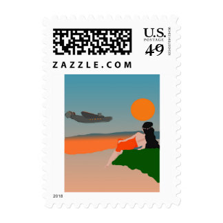 South Pacific Evening Postage Stamp