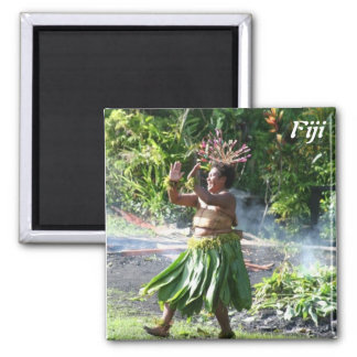 South Pacific Fire Walk Dance 2 Inch Square Magnet
