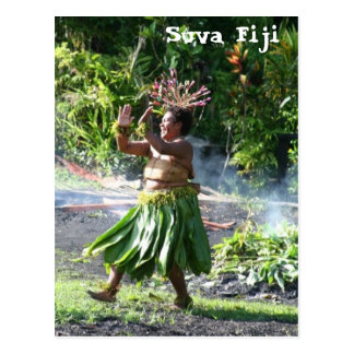 South Pacific Fire Walk Dance Postcard