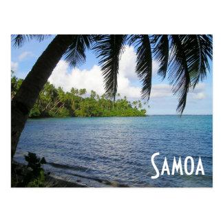 South Pacific Framed by Palm Tree, Samoa Postcard