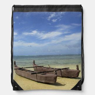 South Pacific, French Polynesia, Moorea. Drawstring Bag