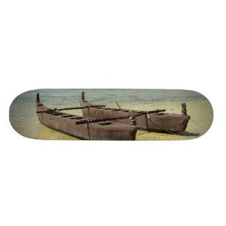 South Pacific, French Polynesia, Moorea. Skateboard Deck